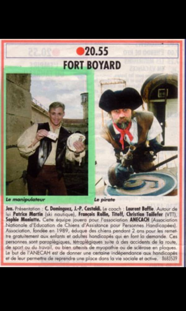 Article Fort Boyard Hervé Listeur